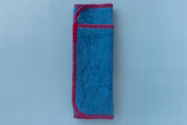青い布ナプキン