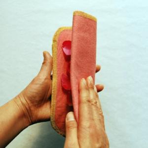 きれいな面に折り返す多い日用布ナプキン